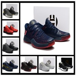 Wholesale Basket Fashion Men - 2017 Harden Vol. 2 Mens Basketball Shoes Black White Orange Wholesale Fashion James Harden Shoes Sneakers Size EUR 40-46