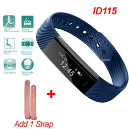 Wholesale Pedometer Bluetooth - ID115 Sports Smart Band Bluetooth Bracelet Smartwatch Wristband Pedometer Sleep Monitor Wearable Device Fitness Tracker for iPhone Samsung