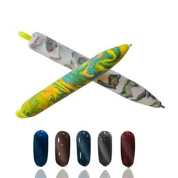 Wholesale Magnetic Polish Design - Wholesale-1PCS Hot Decor Designs Nail Art Magnet Pen 3d Beauty Polish UV Gel Magnetic Cats DIY Charm Decorations Tools NJ089