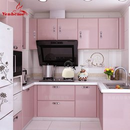 Wholesale Pink Vinyl Roll - allpaper cell 3 5M 10M pink paint waterproof vinyl decorative film self adhesive wallpaper roll for kitchen furniture stickers pvc home d...