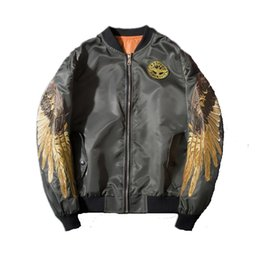 Wholesale Golden Flower Patterns - Nasa Golden Wings Baseball Jacket Air Force One Taschen Herren Military Style Mantel Armee Kurze Male Frauen Kanye West Jacke