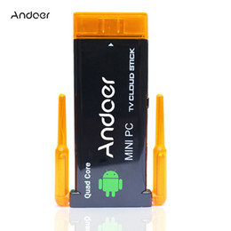 Wholesale Android Dongle Quad - 1080P android tv stick dongle CX919 Android 4.2 Mini PC Box TV Stick Quad Core 2G 8GB Bluetooth Dual External WiFi Antenna