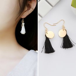 Wholesale Earing Steel - RAVIMOUR -Long Tassel Earrings for Women Ethnic Drop Earing Fashion Jewelry Fabric Brincos Pendientes Mujer Moda Boucle d'oreille E2827