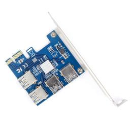 Carte élévatrice WBTUO PCI-E Carte multiplicateur de port PCIe USB 3.0 PCI Express PCIe 1 à 4 PCI-E à PCI-E pour BTC Miner Q22336 ? partir de fabricateur