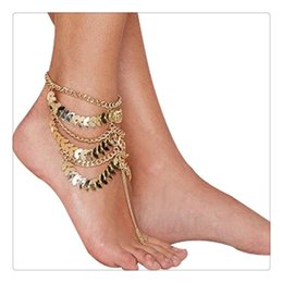 Wholesale Trendy Sandals - Fashion Jewelry Lady Charming Women Anklets Barefoot Coin Ankle Chain Anklet Bracelet Foot Jewelry Sandal Beach Anklets Gift Free Shipping