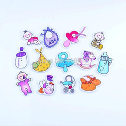 Wholesale Free Sewing Pattern - Free shipping 100pcs Random Mixed 2 Holes Pattern Lovely Baby Wood Sewing Buttons Scrapbooking