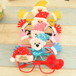 Wholesale framing media - Spectacle Frame Christmas Decor Santa Claus Snowman Deer Glasses Adult Children Gifts Party Decration Many Style Select 3qy F R