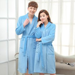 Wholesale Women Red Service - Women 's flannel robe sexy 2016 women bathrobe vestido longo winter robes long - sleeved leisure women' s pajamas home service