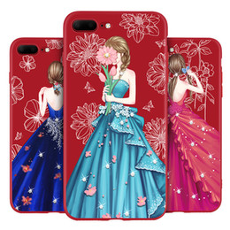 Wholesale Hot Pretty Girls - For iphone 8 7 case soft TPU red 3d case with pretty hot girl for sexy women for Samsung S8 Plus s7 Edge