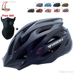 Wholesale Bicycle Helmets Moon - Wholesale-MOON Cycling Helmet Ultralight Integrally-molded Bicycle Helmet CE Certification for Road Mountain Bike Helmet Casco Ciclismo