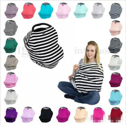 Wholesale Baby Travel Prams - Baby INS Stroller Cover Sleep Pushchair Case Car Seat Canopy Shopping Cart Cover Pram Travel Bag Buggy Cover Breastfeed Nursing Covers B1910