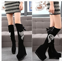 Wholesale Muscle Foxes - Wholesale New Arrival Hot Sale Specials Super Fashion Influx Martin Suede Knight Fox Diamond Cowgirl Large Size Wedge Knee Boots EU34-39