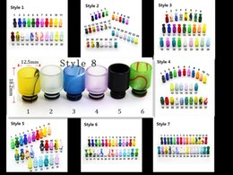 Wholesale Ee2 Electronic Cigarette - Acrylic drip tip Vase Plastic mouthpiece 510 EE2 Cartomizer DCT 510 EGO Drip Tip Bowling GLASS EGO Battery Electronic Cigarette DHL Free