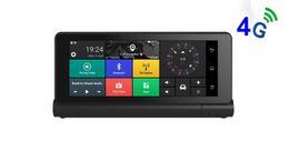 Автомобильный dvr gps android онлайн-7-дюймовый 4G Android Wifi Автомобильный GPS-навигатор с Bluetooth FM HD сенсорный экран DVR камеры 16 ГБ ROM