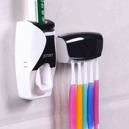 Wholesale Toothpaste Squeezer Wholesale - Wholesale- ONEUP 2016 New Fashion Automatic Toothpaste Toothpaste Device Belt Toothbrush Holder Squeezer Bathroom Set Bathroom Accessories