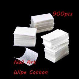 Canada De haute qualité! Epacket gratuit 900 Pcs / pack Nail Art Polonais Acrylique Gel Remover Pad Lingettes Ongles Nécessités / Lingettes Nettoyantes cheap acrylic nail wipes Offre