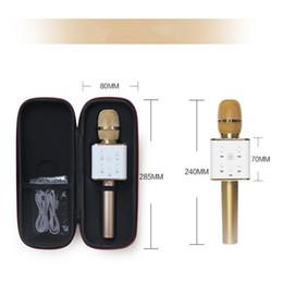Wholesale Battery Loudspeaker Bluetooth - Q7 Wireless Microphone Bluetooth Speaker with 2600mAh Large Capacity Battery Karaoke Loudspeaker for Iphone7 plus Samsung Smartphones