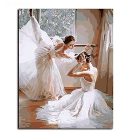 Wholesale Multiple Paintings - Framed Ballet Girl painting Modern HD Art Print on High Quality Canvas Home Wall Decor Multiple Size