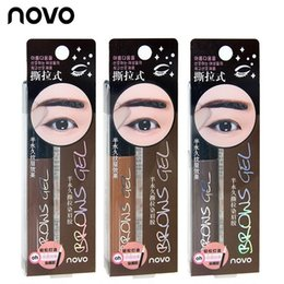 Wholesale Korean Eyes Make Up - Eye Brow Tattoo Tint Waterproof Long-lasting Peel Off Dye Eyebrow Gel Cream Mascara Make Up Pen Korean Cosmetics NOVO Eye Makeup 120pcs
