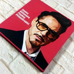 Wholesale Wall Decal Figures - Robert Downey Jr Wall Art Decals Quotes Basketball Size 10x10 inches T2 Canvas print