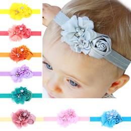 Argentina Niños rosa flor diadema bebés poligonal hilado malla combinación de cintas para el cabello niñas boutique al por menor accesorio para el cabello Suministro