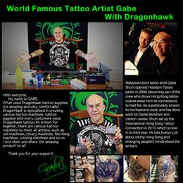 Wholesale Dragonhawk Tattoo - gun trigger Newest Dragonhawk Fine Lining Tattoo Machine Iron 8 Wrap Coils Tattoo Guns Tattoo Supply
