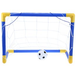 Folding Mini Football Soccer Goal Post Net Set com Pump Kids Sport Toy  Funny Indoor Outdoor Games Brinquedos Criança Brithday Gift d10918a4fbd78