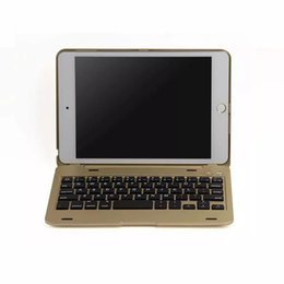 Wholesale ipad mini apple bluetooth keyboard - Portable Wireless Bluetooth 3.0 Keyboard case for iPad mini 4 with Full Protective Stand Cover Case F1+