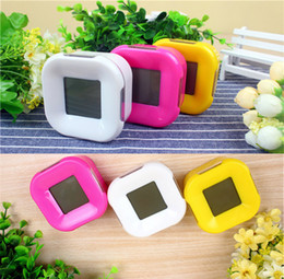 Wholesale Crystal Rotary Led - Factory direct square calendar alarm clock countdown temperature rotary induction BD LCD screen