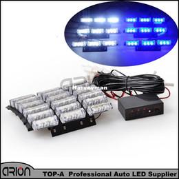 2016 Brand New 54 LED Acil Strobe Işık araç flaş polis kamyon İtfaiyeciler strobe Mavi Beyaz lightbar Lambası nereden marka yeni araçlar tedarikçiler