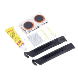Wholesale Tyre Patch Kit - 1set Cycling Bicycle Bike Repair Fix Kit Flat Rubber Tire Tyre Tube Patch Glue Hot New Arrival