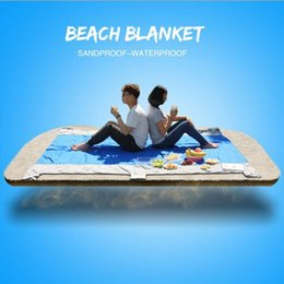 Wholesale Camping Tarps - 210*270cm Camping Blanket Foldable Waterproof Picnic Blankets Portable Sandproof Beach Blanket Foldable Mat Nylon Outdoor Pads CCA6524 20pcs