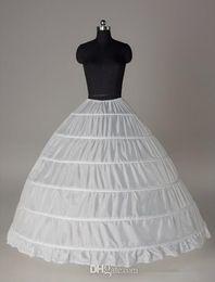 Canada 2017 Grand Inner Petticoats Blanc 6-cerceaux robe de bal mariée Underskirt formelle robe Crinoline Underskirt Plus taille accessoires de mariage Offre