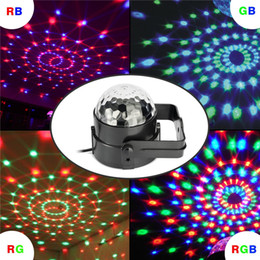 Wholesale Dj Lights Sound Activated - 7 Colors Led DJ Disco Light 3W LED Crystal Magic Ball Light Sound Activated Stage Lights with Remote for Party Xmas Wedding KTV Bar Club Pub
