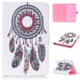 Wholesale Tab Cartoon Cover - Cartoon Owl Flower Leather Case Stand For Samsung Galaxy Tab E 8.0 T377 A 10.1 T580 9.7 T550 T560 Tab4 T530 tablet Tower Pouch Cover 50pcs