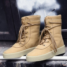 Wholesale Cheap Low Heel Boots - new Hot Sale Kanye West Suede winter plus velvet warmth Snow boost discount cheap 750  950 boots men Women Boots unisex Martin Boot