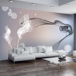 Wholesale Black White Modern Wallpaper - Custom Mural Wallpaper Personalized Non-woven Wall Covering Abstract Modern Minimalist Black And White TV Backdrop Wallpaper