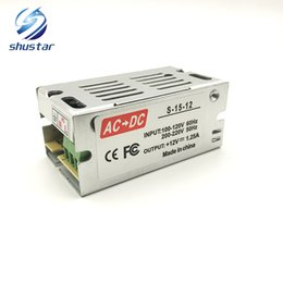 Wholesale Dc Transformer For Led Strip - Shustar wholesale lighting Transformers 1A 15W 85V -265V AC to DC 12V Switch Power Supply Adapter Converter For RGB LED Strip light