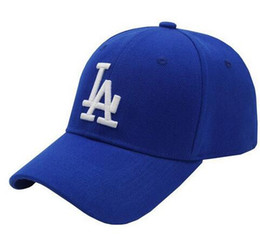 Wholesale High Quality Baseball Caps - New high-quality boy Baseball Caps LA Dodgers Outdoors Snapback Curved Brim Caps Bones Hip Hop Hats Men Women Gorras