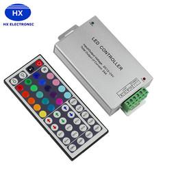 Wholesale cheap led strips - Aluminium 24Key 44Key 12A Output IR Remote Control Cheap DC12V-24V Input RGB Controllers for LED Strip