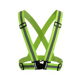 tissus de vêtements de sport Promotion Vente en gros de vêtements de sécurité réfléchissants 3M matériau en tissu Strip Tap Band Vest veste Sports Outdoor Gear RS-01Thickened