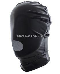 Wholesale spandex bondage hood - Elastic Cloth Open Mouth Hood Sexy Mask For Couples Rolepaly Bondage Spandex Sex Toys