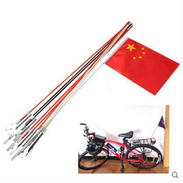 Wholesale Wholesale Bike Flags - 50pcs wholesale cheap bicycle bike safety flag pole with customized printing your graphic