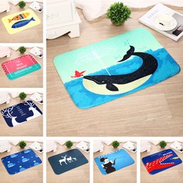 Wholesale Wholesale Christmas Carpet - Newest Flannel Carpets Doormat Christmas Elk Series Bedroom Living room Kitchen Balcony Corridor Soft Non Slip Mat Carpet 40*60cm WX-P26