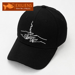 Wholesale Bboy Cap - [EXILIENS] Fashion 2017 New Brand Baseball Cap Cotton Smokes Snapback Caps Strapback Bboy Hip-hop Hats For Men Women Fitted Hat