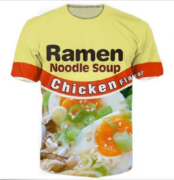 Wholesale Chicken 3d - Newest Fashion Mens Womans Chicken Ramen T-Shirt Summer Style Funny Unisex 3D Print Casual T-Shirt Tops Plus Size AA272