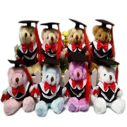 Wholesale Teddy For Sale - Graduation Bear Dolls Bouquet Long Hair Joint Teddy Bears For Kid Cartoon Animal Multicolor Select Hot Sale 14.5CM 4 95qd I1