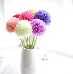 Wholesale Wholesale Fake Flower Stems - Single stem artificial flowers Artificial Hydrangea Flower Ball DIY Silk Hydrangea Accessory Fake Flores Free shipping