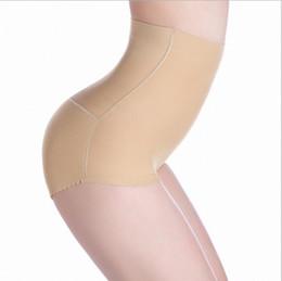 Wholesale Hip Padding Pants - 50pcs Women High Waist Hip Padded Underwear Butt Lift Enhancer Brief Pants Shapewear High Waist Padded Pants