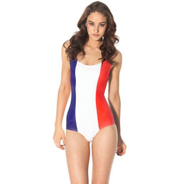 Wholesale France Country - France flag bikini one piece Country flag swimwear Cool swim wear Black milk sport bathing suit Woman swimsuit